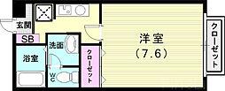 神戸市西神・山手線 伊川谷駅 徒歩10分の賃貸アパート 1階1Kの間取り
