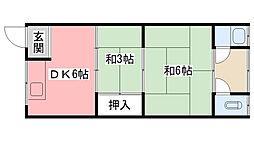 三和荘[1E号室]の間取り