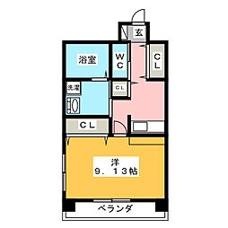 さるびあ牛田[6階]の間取り