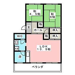 コーポひかり[1階]の間取り
