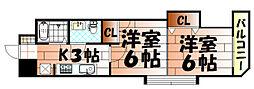 木下鉱産ビル[603号室]の間取り