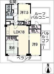 シーアイマンション第3本郷N棟1404号[14階]の間取り