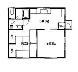 篠川アパート[1階]の間取り