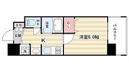 プレサンス京都烏丸NEXT[5階]の間取り