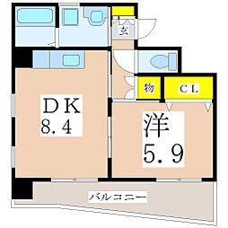 鹿児島県鹿児島市新照院町の賃貸マンションの間取り