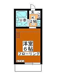 小川コーポ[106号室]の間取り