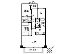 マノアール・アイ[3階]の間取り