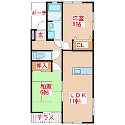 レジデンスAYA[1階]の間取り