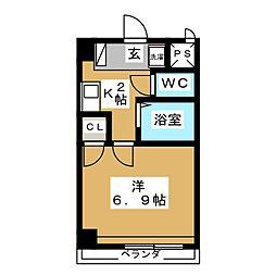 クレストール住田[2階]の間取り