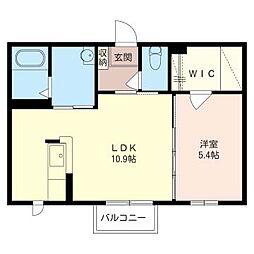ケイコーポC[2階]の間取り