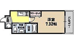 サムティ京橋Fluss 5階1Kの間取り