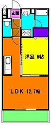 静岡県磐田市天龍の賃貸マンションの間取り