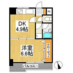 エスポワール六ッ門[3階]の間取り
