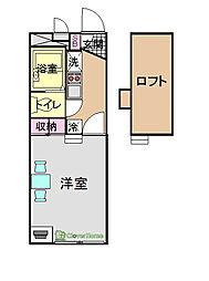 上九沢[210号室]の間取り