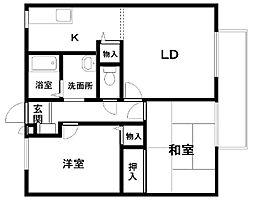 マノワールYAMAMOTO・B棟[201号室]の間取り