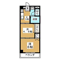 ヴァンクール小田原[3階]の間取り