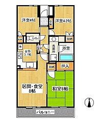 東戸塚パークホームズ弐番館[3階]の間取り