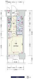 JR大阪環状線 鶴橋駅 徒歩3分の賃貸マンション 12階1Kの間取り