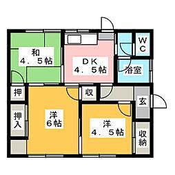 [一戸建] 岡山県岡山市北区白石 の賃貸【/】の間取り