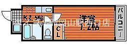 昭和ハイム東古松[2階]の間取り
