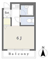 プティ・シャレ― 2階ワンルームの間取り