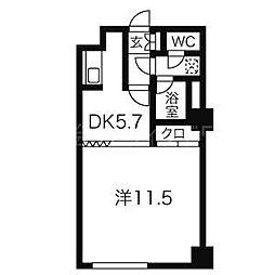 北海道札幌市中央区南四条西18丁目の賃貸マンションの間取り