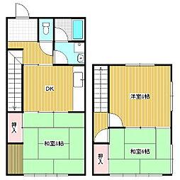 長野県岡谷市の賃貸アパートの間取り