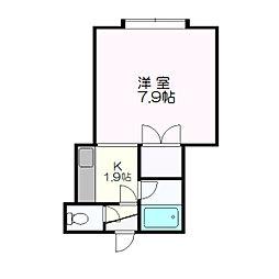 ロアール新札幌C[103号室]の間取り
