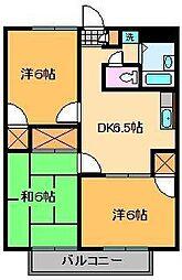 アンザベルテIII[3階]の間取り