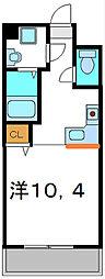 京阪本線 守口市駅 徒歩4分の賃貸マンション 4階1Kの間取り