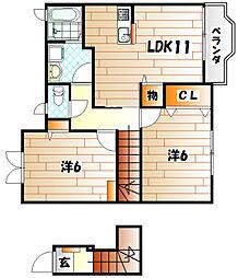 ソレ−ユ上曽根B[2階]の間取り