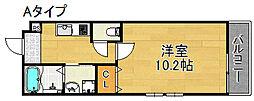フジパレス粉浜II番館[1階]の間取り