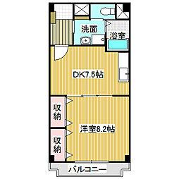 愛知県名古屋市中村区長戸井町3の賃貸マンションの間取り