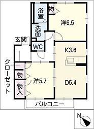 エントピア飯綱A棟[2階]の間取り