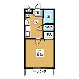 パールマンションI[1階]の間取り