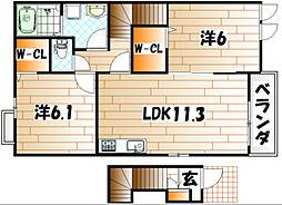 パークアベニューI[2階]の間取り