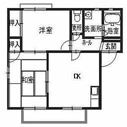 サンローズ久米田[2階]の間取り