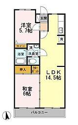 カサベルデU[2階]の間取り