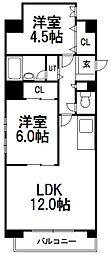 ドミローレル第11[506号室]の間取り