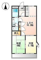 K'S小野[3階]の間取り