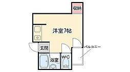 大阪府大阪市東成区中道2丁目の賃貸マンションの間取り