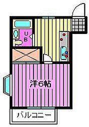 橋本ハイツ[302号室]の間取り