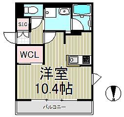 L'Escalier Kamakura[505号室]の間取り