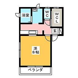 ぶぶれ草薙[2階]の間取り