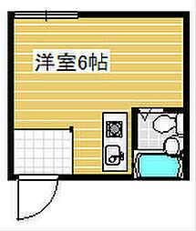 パインリーフ天下茶屋[4階]の間取り