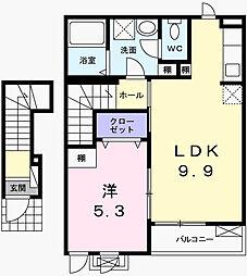 ココフローレン[2階]の間取り