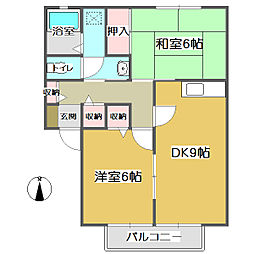メゾンドール KiKi A[1階]の間取り