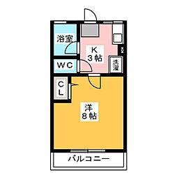 シティハイムエクセル[2階]の間取り