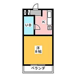 ブルームKII[2階]の間取り