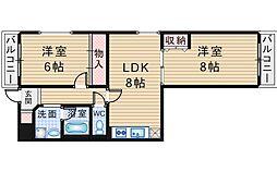千代田マンション[1階]の間取り